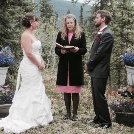 Elegant wedding on the land, West Dawson
