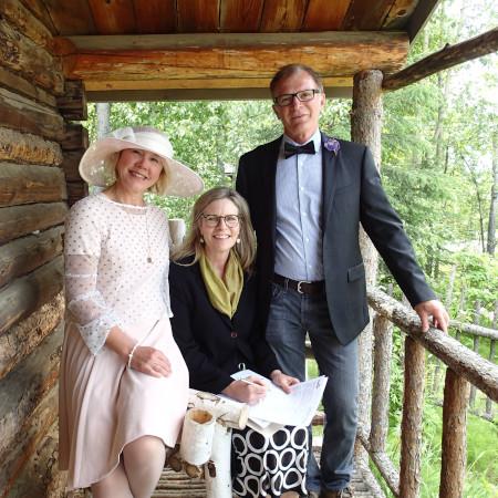 Summer wedding at Robert Service Cabin National Historic Site