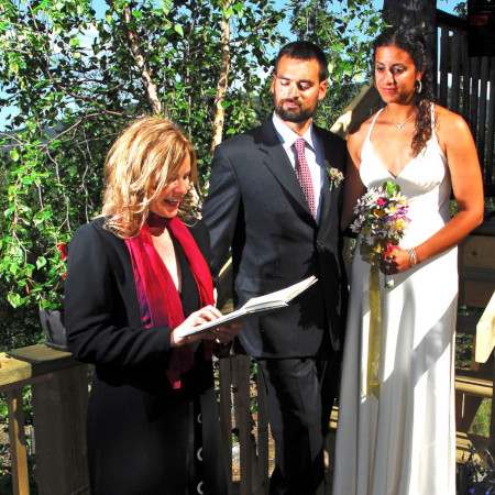 Getting married at home with family and friends, West Dawson