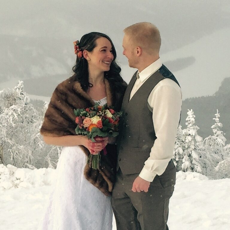 Winter wedding on the Midnight Dome, Dawson City